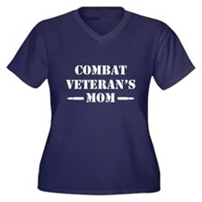 Combat Veter Women's Plus Size V-Neck Dark T-Shirt