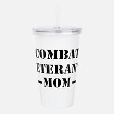 Combat Veteran's Mom Acrylic Double-wall Tumbler