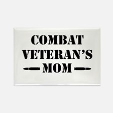 Combat Veteran's Mom Rectangle Magnet