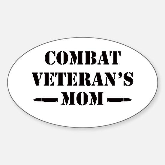 Combat Veteran's Mom Sticker (Oval)