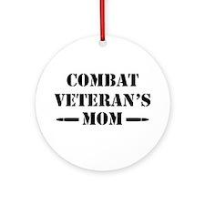 Combat Veteran's Mom Ornament (Round)