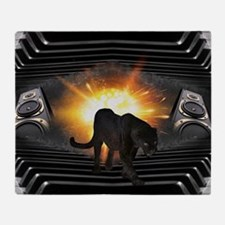 electric keyboard black panther Throw Blanket