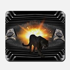 electric keyboard black panther Mousepad