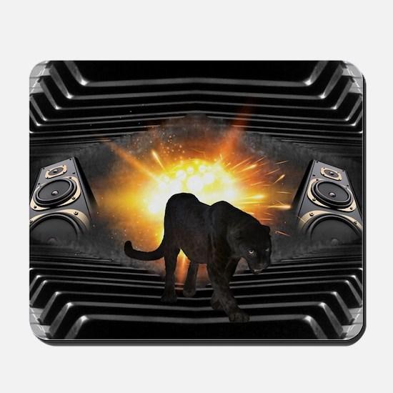 electric keyboard black panther Mousepad