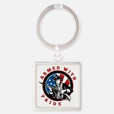 Armed Pride Square Keychain