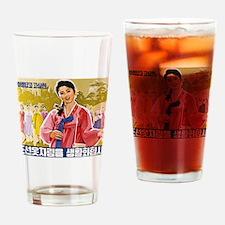 Korean Ladies Wearing Hanbok Drinking Glass