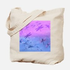 Bold Purple Dragonflies Tote Bag