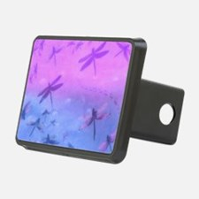 Bold Purple Dragonflies Hitch Cover