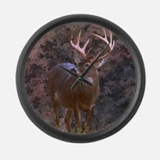 camouflage western country deer Large Wall Clock