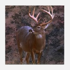 camouflage western country deer Tile Coaster