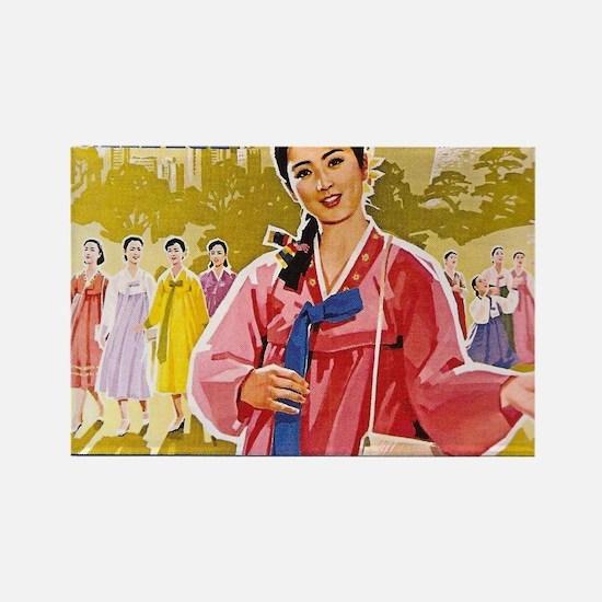 Korean Ladies Wearing Hanbok Magnets