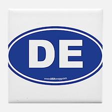 Delaware DE Euro Oval Tile Coaster