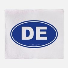 Delaware DE Euro Oval Throw Blanket