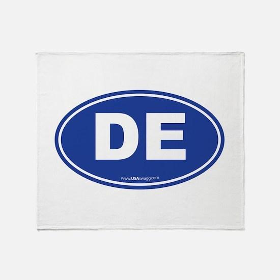 Delaware DE Euro Oval Throw Blanket