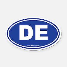 Delaware DE Euro Oval Oval Car Magnet