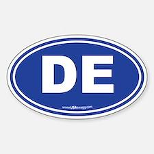 Delaware DE Euro Oval Sticker (Oval)