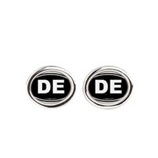 Delaware DE Euro Oval Oval Cufflinks