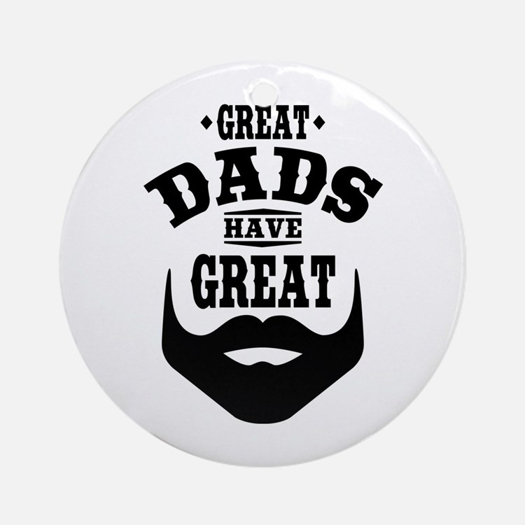 Bearded Dad Ornament (Round)