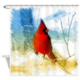 Cardinal Shower Curtains