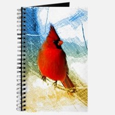watercolor winter red cardinal Journal