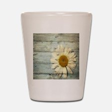 shabby chic country daisy Shot Glass