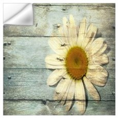shabby chic country daisy Wall Decal