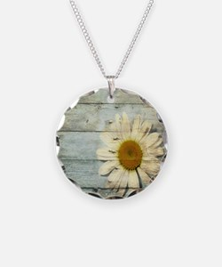 shabby chic country daisy Necklace