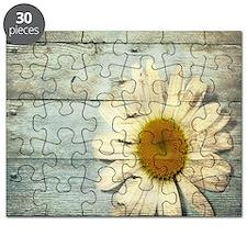 shabby chic country daisy Puzzle