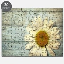 shabby chic country daisy Puzzle