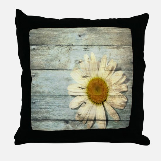 shabby chic country daisy Throw Pillow