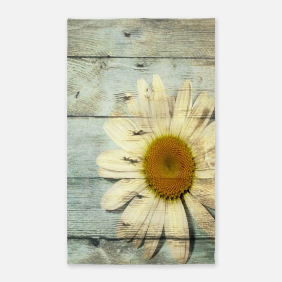 shabby chic country daisy Area Rug
