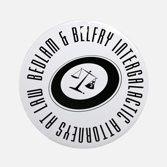Bedlam & Belfry Intergalactic Logo Ornament (Round