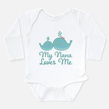 My Nana Loves Me Long Sleeve Infant Bodysuit