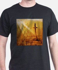 inspirational sunrays golden cross T-Shirt