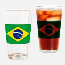 Brazil Flag Drinking Glass