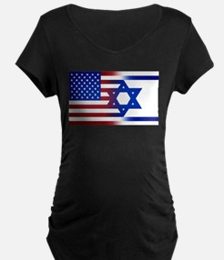 America stands with Israel Maternity T-Shirt