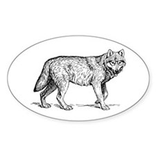 Vintage Hipster Wolf Decal