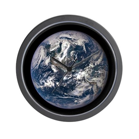 Amazing Epic Earth Wall Clock By Amazingsolarsystem