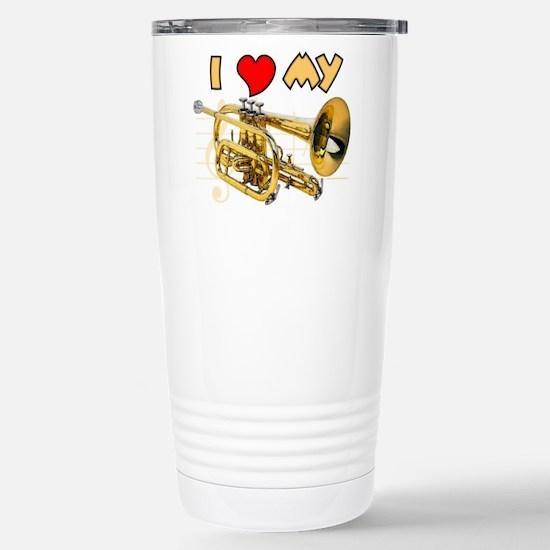 I Love My Cornet Stainless Steel Travel Mug