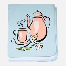 Tea baby blanket