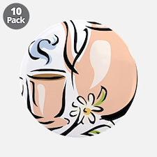 """Tea 3.5"""" Button (10 pack)"""