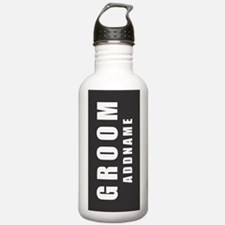 Personalized Groom on Sports Water Bottle
