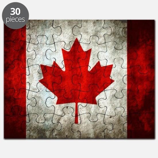 Funny Canada flag Puzzle