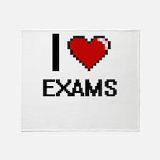I love EXAMS Throw Blanket