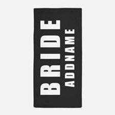 Personalized Bride on Gray Beach Towel