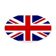 UK Flag Oval Car Magnet