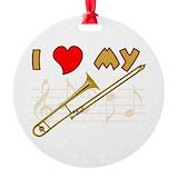 Trombone Round Ornament