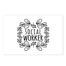 Hand-Drawn Wreath Social Postcards (Package of 8)