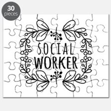 Hand-Drawn Wreath Social Worker Puzzle