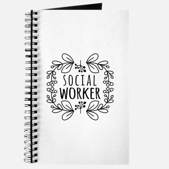 Hand-Drawn Wreath Social Worker Journal